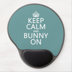Gel Mousepad with Keep Calm and Bunny On design
