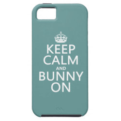 Case-Mate Vibe iPhone 5 Case with Keep Calm and Bunny On design