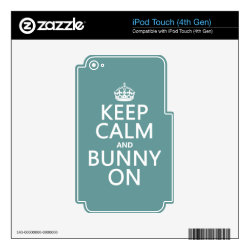 iPod Classic (80/120/160GB) Skin with Keep Calm and Bunny On design