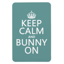 4'x6' Photo Magnet with Keep Calm and Bunny On design
