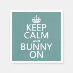 Paper Napkins with Keep Calm and Bunny On design