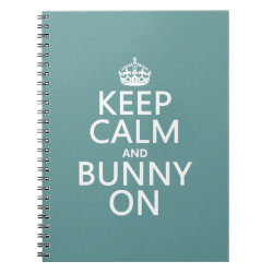 Keep Calm and Bunny On Photo Notebook (6.5