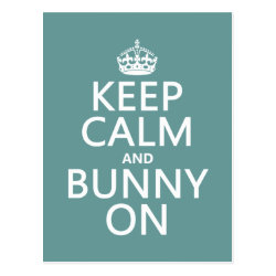 Postcard with Keep Calm and Bunny On design