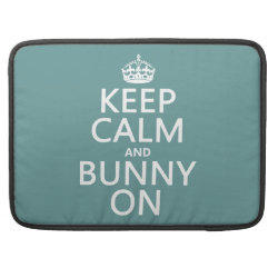 Macbook Pro 15' Flap Sleeve with Keep Calm and Bunny On design