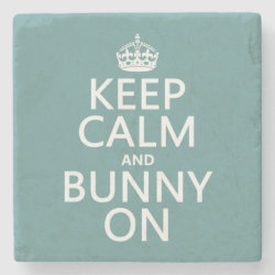 Marble Coaster with Keep Calm and Bunny On design