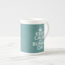 Bone China Mug with Keep Calm and Bunny On design