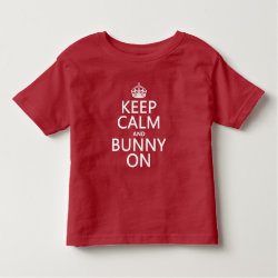 Toddler Fine Jersey T-Shirt with Keep Calm and Bunny On design