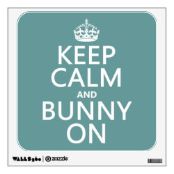 Walls 360 Custom Wall Decal with Keep Calm and Bunny On design
