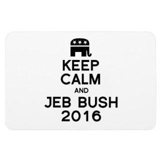 KEEP CALM AND BUSH 2016 -.png Rectangular Photo Magnet