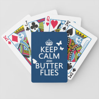 Keep Calm and Butterflies (any background color) Bicycle Playing Cards