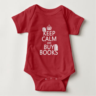 Keep Calm and Buy Books (in any color) Baby Bodysuit