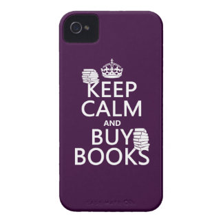 Keep Calm and Buy Books (in any color) iPhone 4 Case-Mate Case