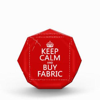 Keep Calm and Buy Fabric (all colors) Acrylic Award
