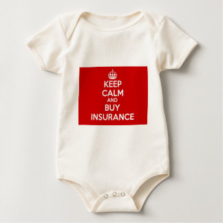 Keep Calm and Buy Insurance Baby Bodysuit