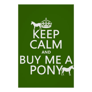 Keep Calm and Buy Me A Pony Poster