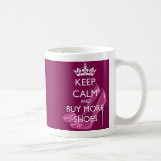 Keep Calm and Buy More Shoes Mug