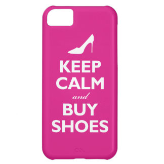 Keep Calm and Buy Shoes (hot pink) iPhone 5C Case