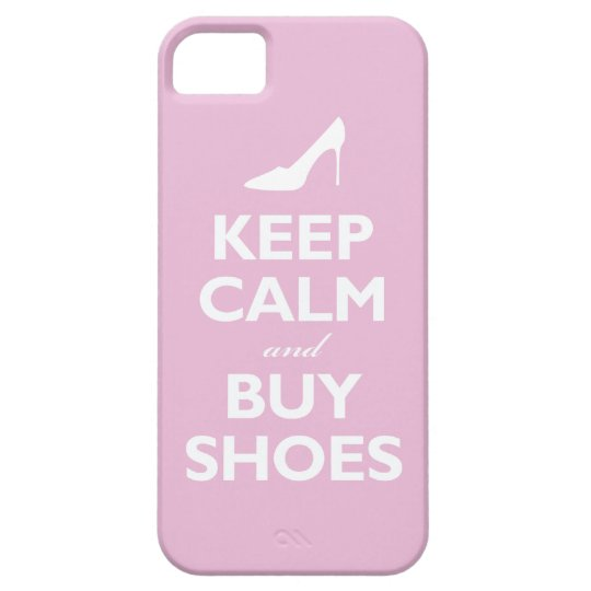 Keep Calm and Buy Shoes (light pink) iPhone SE/5/5s Case