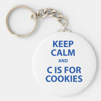 Keep Calm and C Is For Cookies Keychain