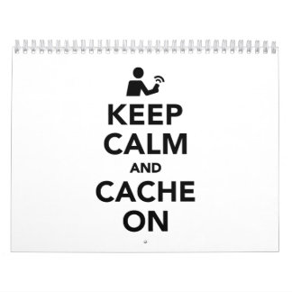 Keep calm and cache on calendar
