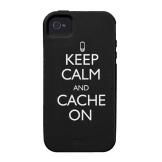 Keep Calm and Cache On Case-Mate iPhone 4 Cases
