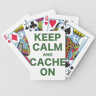 Keep Calm and Cache On Bicycle Poker Cards