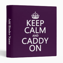 Avery Signature 1' Binder with Keep Calm and Caddy On design