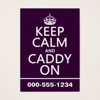 Keep Calm and Caddy On, Golf. Business Card