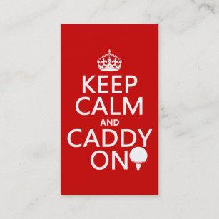 Golf caddy business cards zazzle keep calm and caddy on golf business card colourmoves
