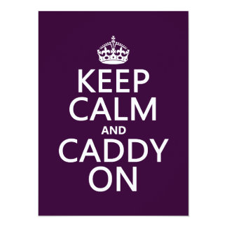 Keep Calm and Caddy On, Golf. Card
