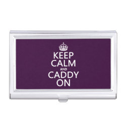 Business Card Holder with Keep Calm and Caddy On design