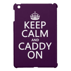 Case Savvy iPad Mini Glossy Finish Case with Keep Calm and Caddy On design