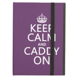 iPad Air Powis Case with Keep Calm and Caddy On design