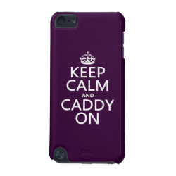 Case-Mate Barely There 5th Generation iPod Touch Case with Keep Calm and Caddy On design