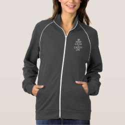 Women's American Apparel California Fleece Track Jacket with Keep Calm and Caddy On design