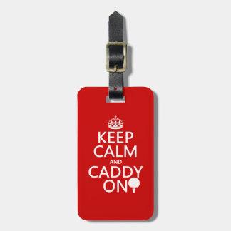 Keep Calm and Caddy On, Golf. Travel Bag Tags
