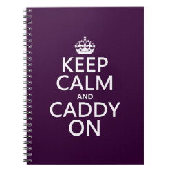 Photo Notebook (6.5' x 8.75', 80 Pages B&W) with Keep Calm and Caddy On design