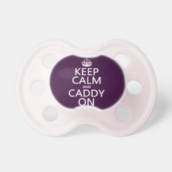 BooginHead® Custom Pacifier (6+ Months) with Keep Calm and Caddy On design