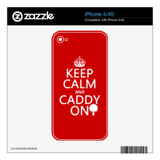 Keep Calm and Caddy On, Golf. Skins For The iPhone 4