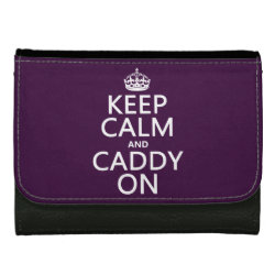 Medium Faux Leather Wallet with Keep Calm and Caddy On design