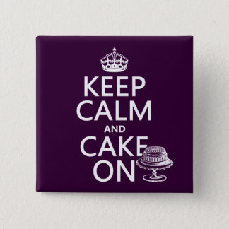 Keep Calm and Cake On Button