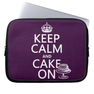Keep Calm and Cake On Computer Sleeve