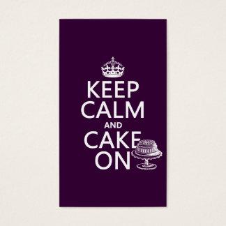 Keep Calm and Cake On (customizable) Business Card