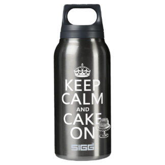 Keep Calm and Cake On (customizable) Insulated Water Bottle