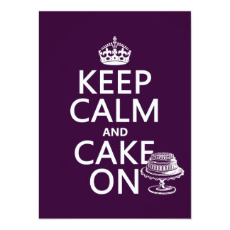 Keep Calm and Cake On (customizable) Personalized Invite