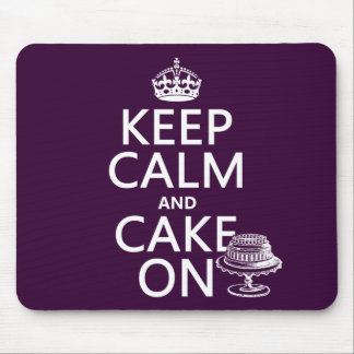 Keep Calm and Cake On (customizable) Mouse Pads