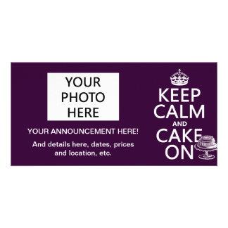 Keep Calm and Cake On (customizable) Photo Card