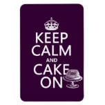 Keep Calm and Cake On (customizable) Rectangle Magnets