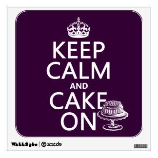 Keep Calm and Cake On (customizable) Wall Graphics