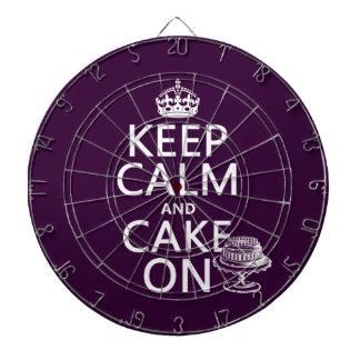 Keep Calm and Cake On Dart Board